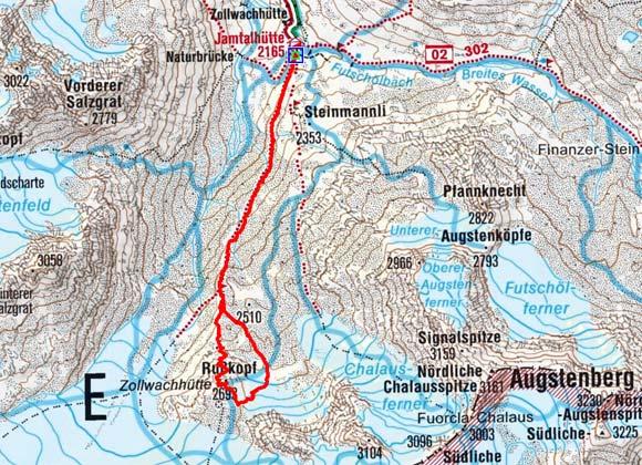 Rußkopf (2693 m) von der Jamtalhütte
