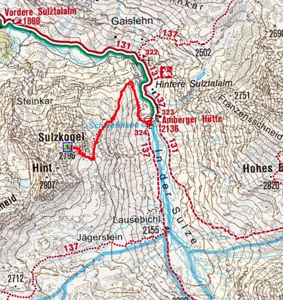 Vorderer Sulzkogel (2796 m) von der Amberger Hütte
