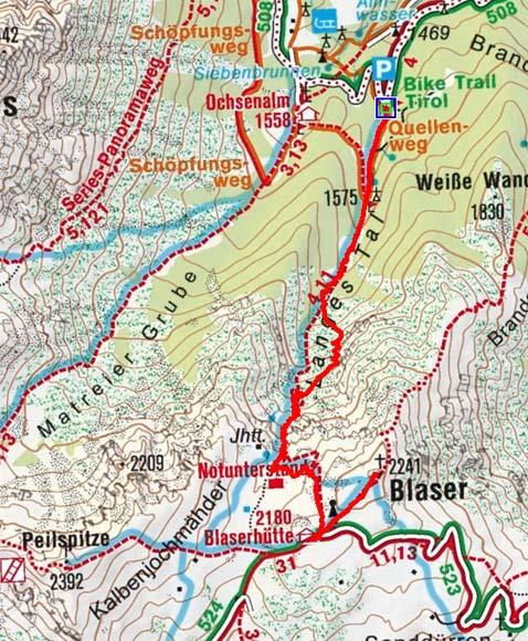 Blaser (2241 m) von Maria Waldrast