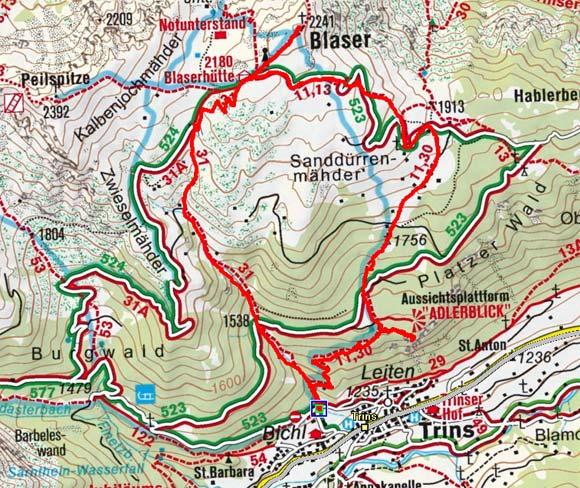 Blaser (2241 m) von Trins
