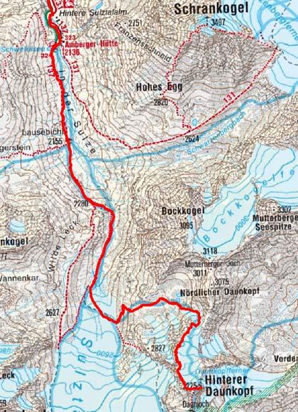 Hinterer Daunkopf (3225 m) von Gries