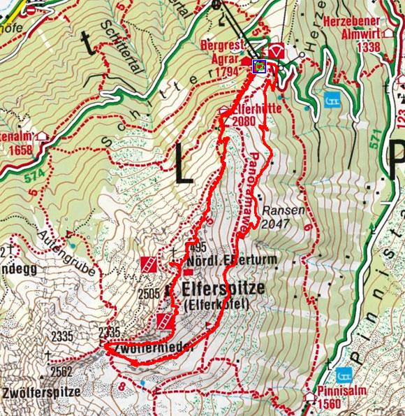 Elfer Rundwanderung (Elfer Bergstation oder Elferhütte)