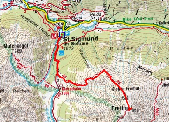 Freihut (2616 m) von St. Sigmund