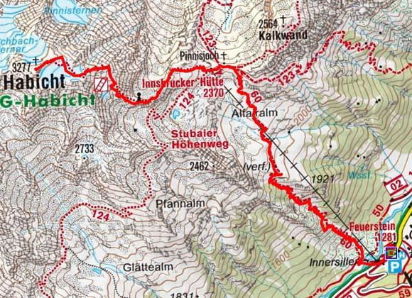 Habicht (3277 m) vom Gasthof Feuerstein