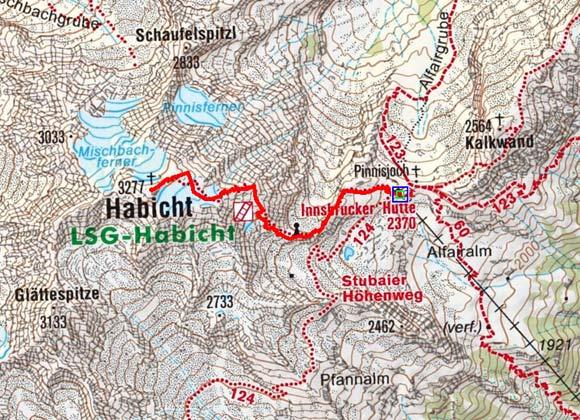 Habicht (3277 m) von der Innsbrucker Hütte