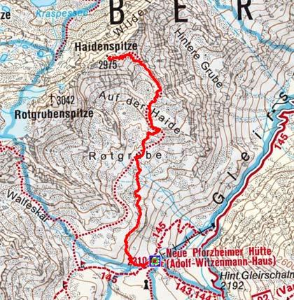 Haidenspitze (2975 m) von der Pforzheimerhütte