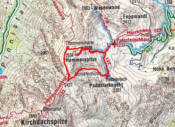 Hammerspitze (2623 m) vom Padasterjochhaus