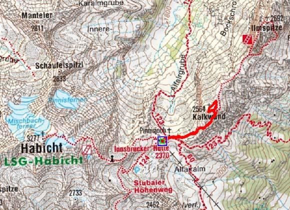 Kalkwand (2564 m) von der Innsbruckerhütte