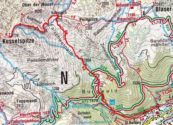Kesselspitze (2728 m) von Trins