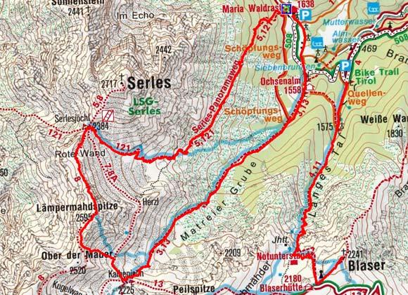 Lämpermahdspitze (2595 m) von Maria Waldrast