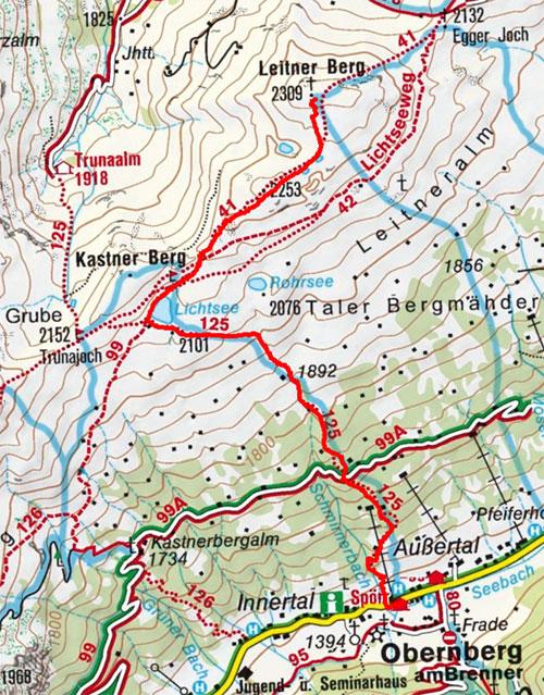 Leitner Berg (2309 m) von Almi's Berghotel