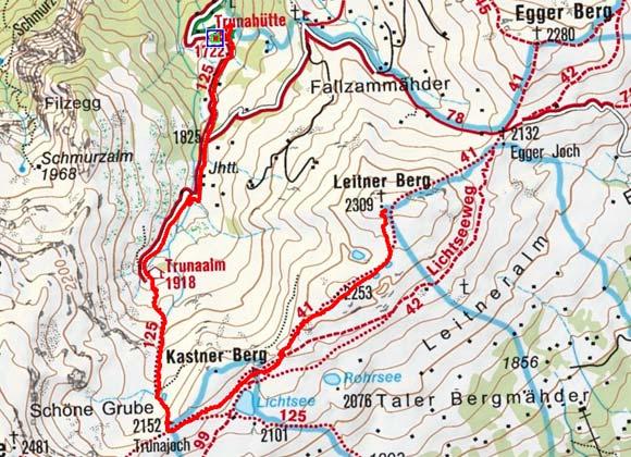 Leitner Berg (2309 m) von der Trunahütte
