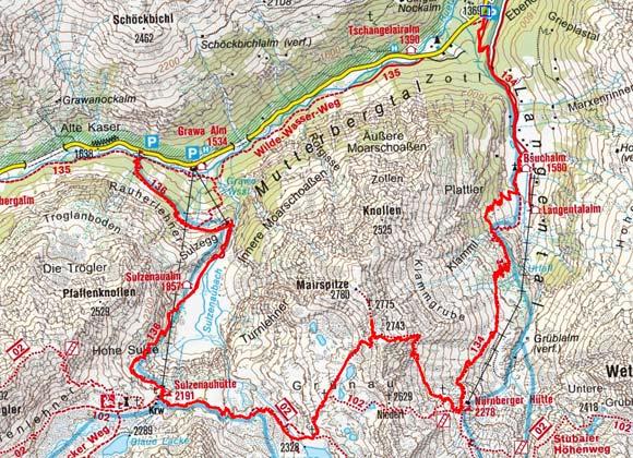 Mairspitze (2780 m) über die Nürnbergerhütte