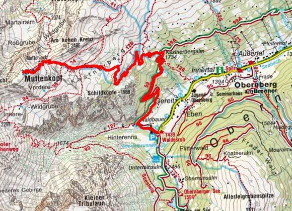 Muttenkopf (2638 m) von Obernberg