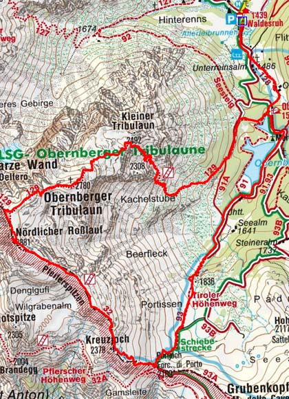 Obernberger Tribulaun (2780 m) von Obernberg