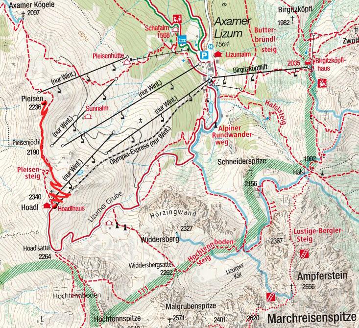 Pleisen (2236m) von der Hoadl Bergstation