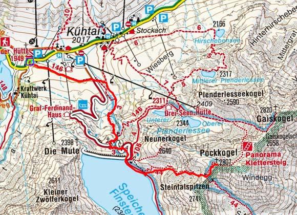 Pockkogel (2807 m) von der Dortmunder Hütte