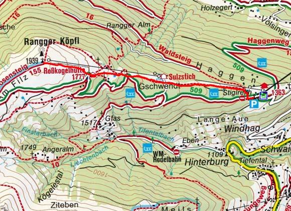 Rangger Köpfl (1939 m) von Stiglreith