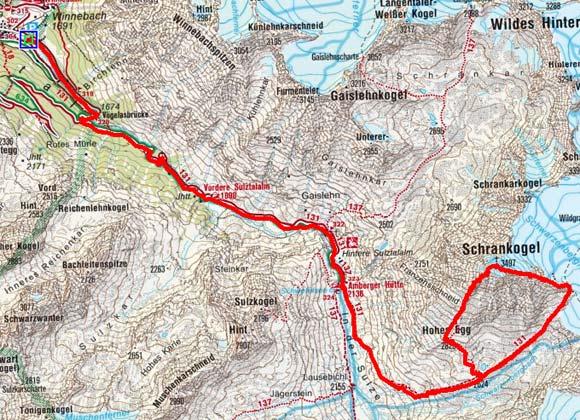 Schrankogel (3497 m) von Gries/Sulztal