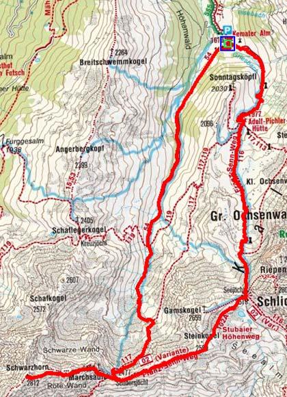 Schwarzhorn (Kemater Alm), 2.812 m