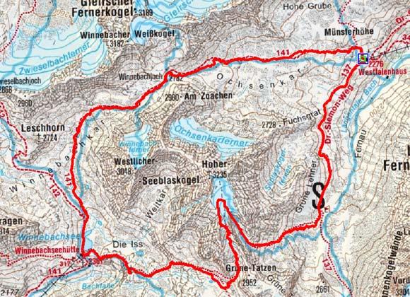 Grosse Seeblaskogel Umrahmung vom Westfalenhaus