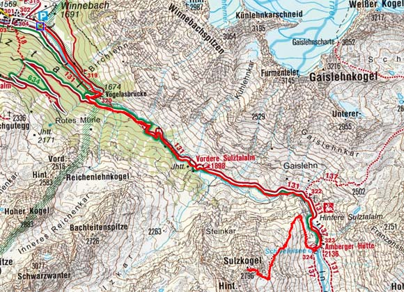 Vorderer Sulzkogel (2796 m) von Gries