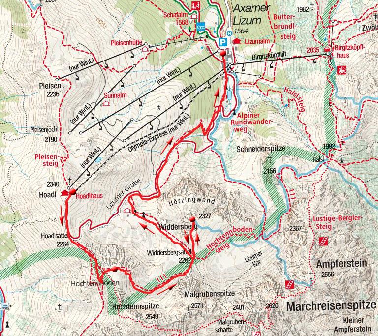 Widdersberg & Herzlteich von der Hoadl Bergstation