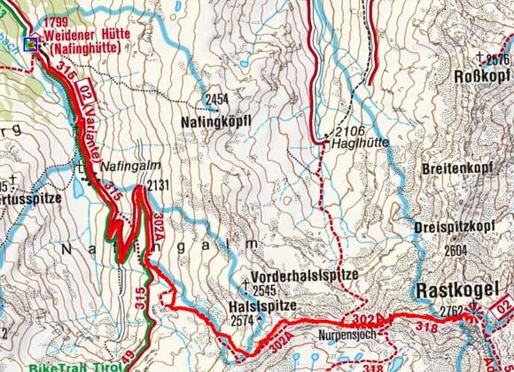 Rastkogel (2762 m) von der Weidener Hütte