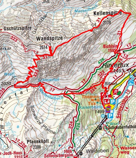 Wandspitze (2614 m) von Hintertux