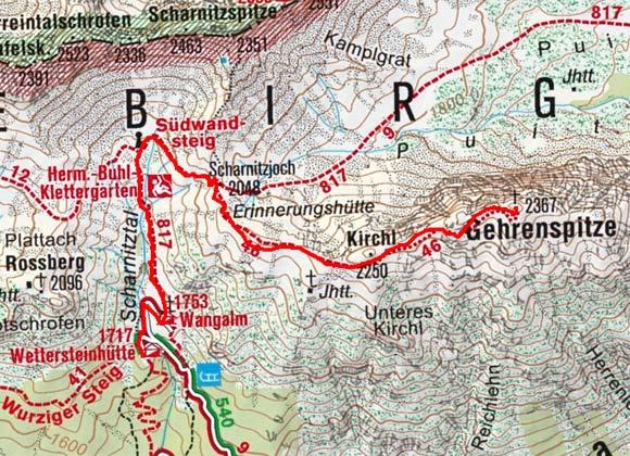 Gehrenspitze (2367 m) von der Wettersteinhütte