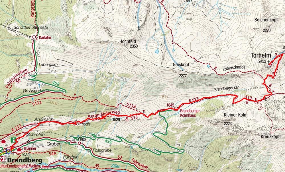 Torhelm (2452 m) von Brandberg