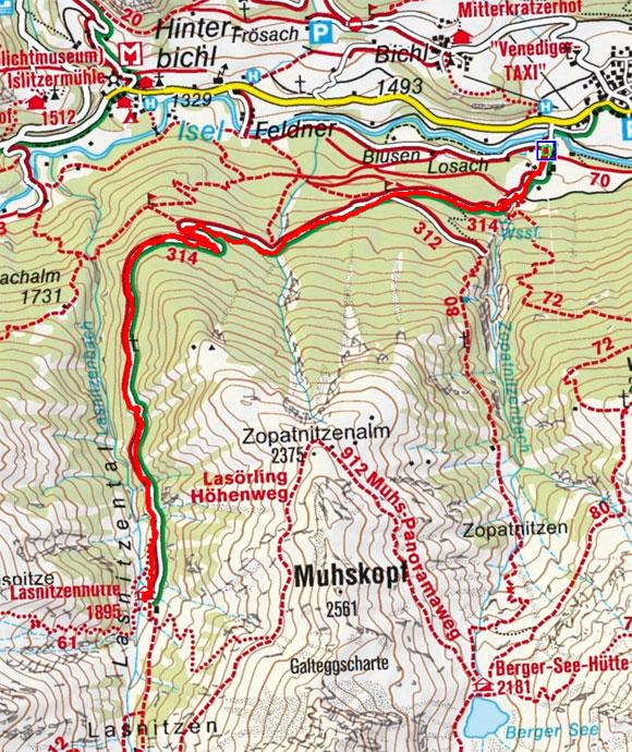 Lasnitzenhütte (1900 m) von Prägraten