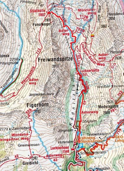 Stüdlhütte  (2802 m) vom Lucknerhaus