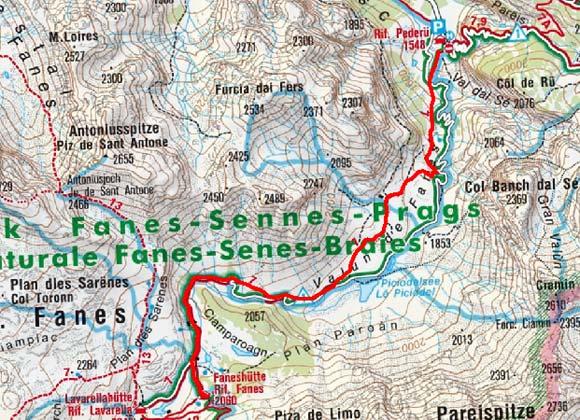 Faneshütte (2060 m) von Pederü