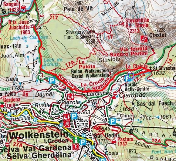 Juac Schutzhütte (1905 m) aus dem Langental
