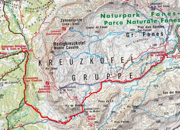 Schutzhütte Lavarella (2050 m) über den Lavarellasattel
