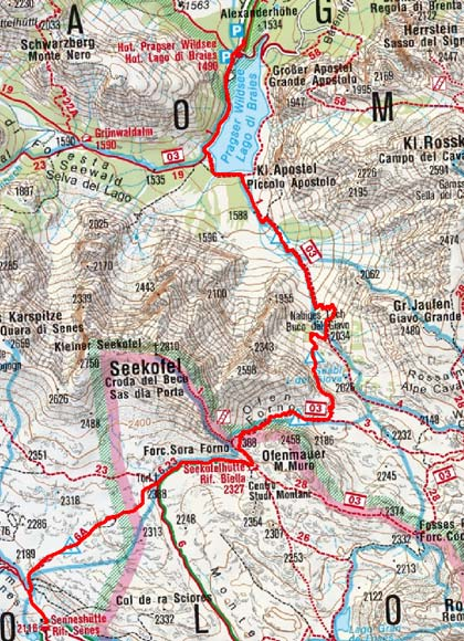 Senneshütte (2126 m) über die Ofenscharte