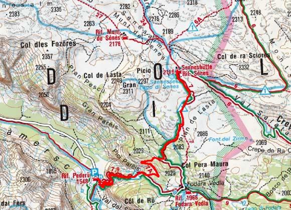Senneshütte (2126 m) von Pederü