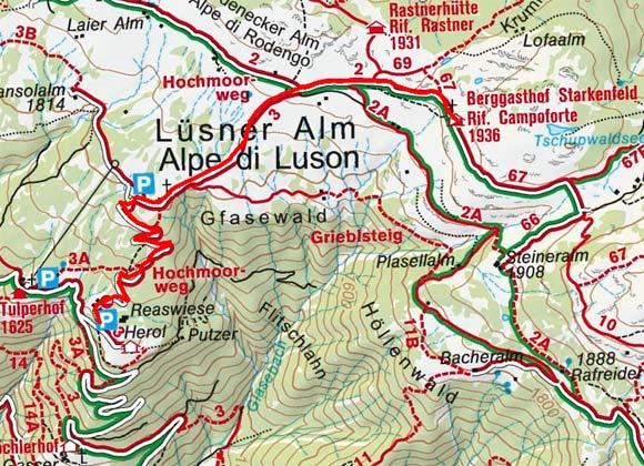 Starkenfeldhütte (1936 m) von Lüsen Berg