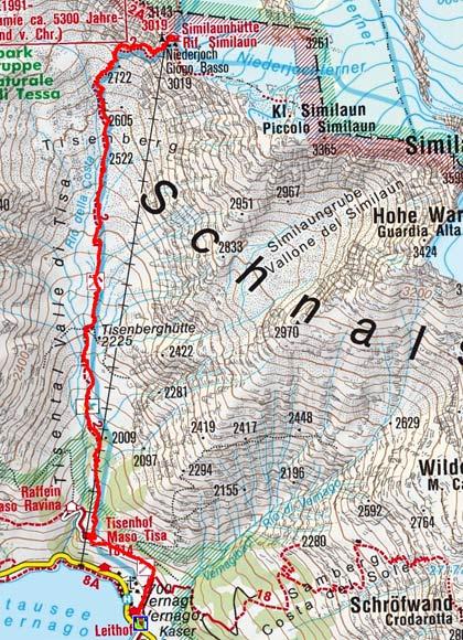 Similaunhütte (3019 m) von Vernagt