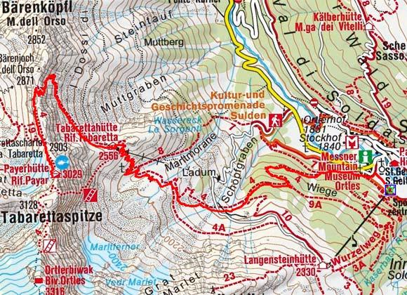 Payerhütte (3029 m) von Sulden