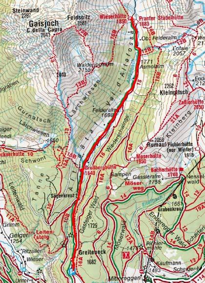 Wieserhütte (1850 m) durch das Altfasstal