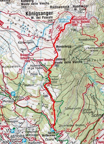 Radlseehütte (2284 m) vom Garner Wetterkreuz
