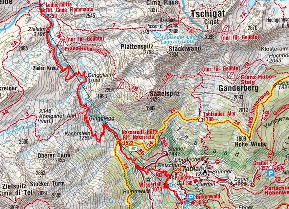 Lodnerhütte (2259 m) von Partschins