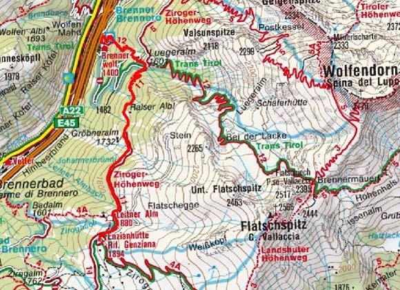 Enzianhütte (1894 m) vom Brenner