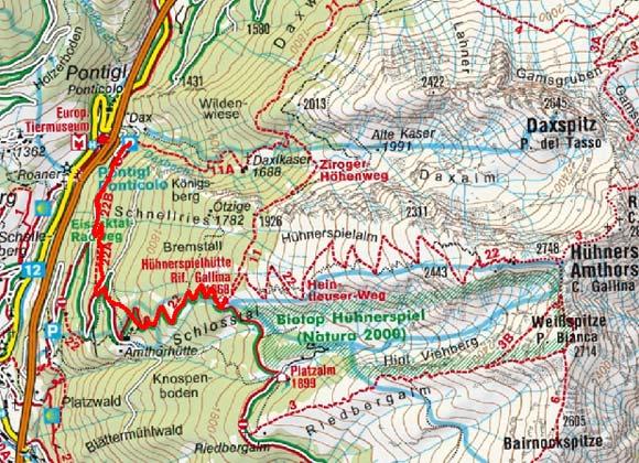 Hühnerspielhütte (1870 m) von Pontigl
