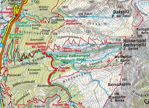 Hühnerspielhütte (1870 m) vom Riedberg