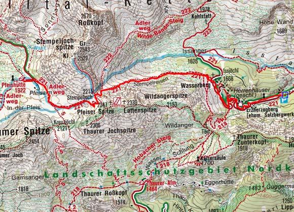 Pfeishütte (1922 m) aus dem Halltal