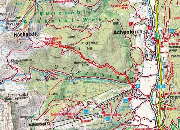 Seewaldhütte (1582 m) von Achenkirch