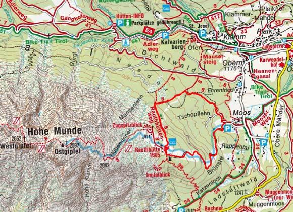 Rauth Hütte (1605 m) von Moos